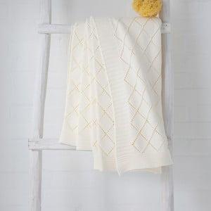 Bílý pléd Madeleine, 130x170 cm