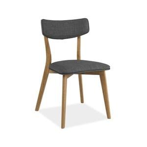 Šedá polstrovaná jídelní židle Signal Karl