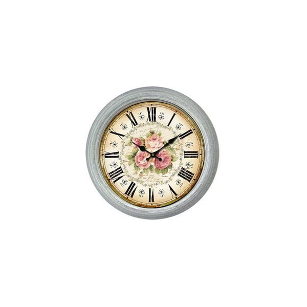 Nástěnné hodiny Antic Line King Roses, průměr36cm
