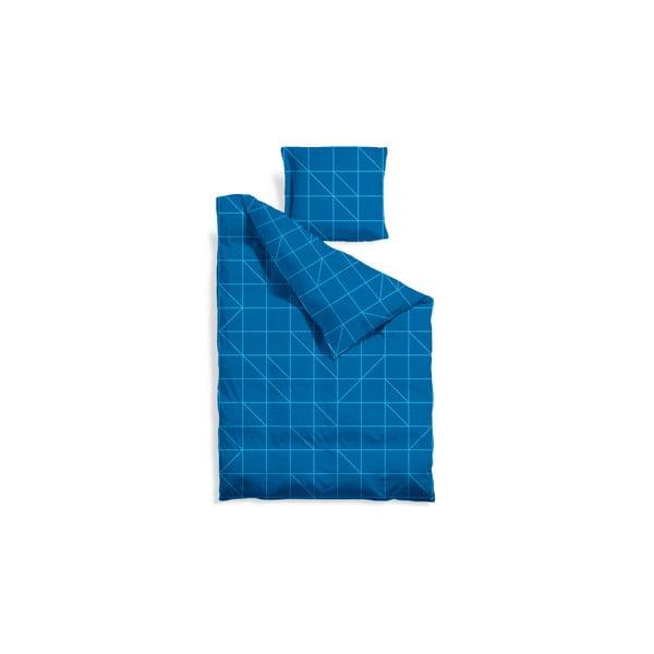 Prodloužené povlečení Turquoise Geometric, 140x220 cm