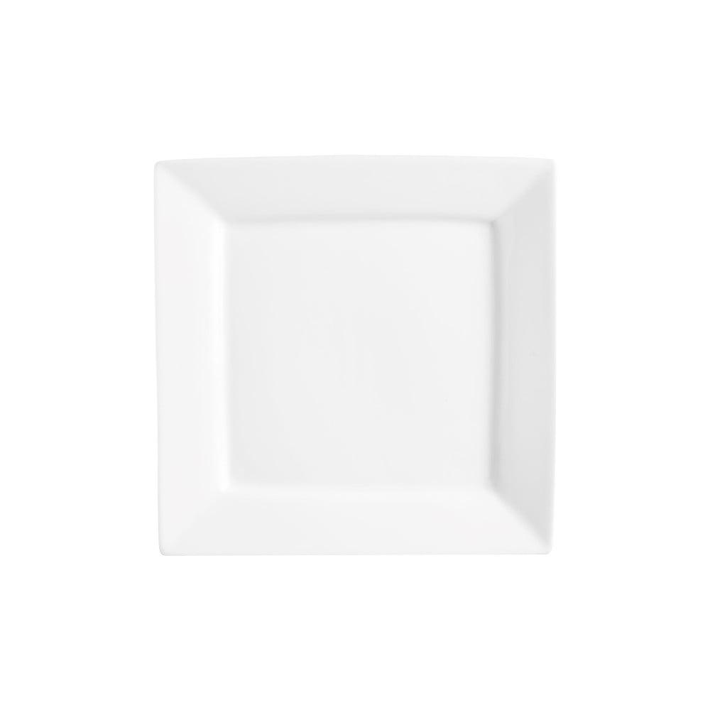 Bílý porcelánový talíř Price&Kensington Simplicity, 18 x 18 cm
