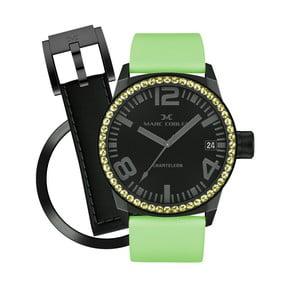 Dámské hodinky Marc Coblen s páskem a kroužkem navíc P105