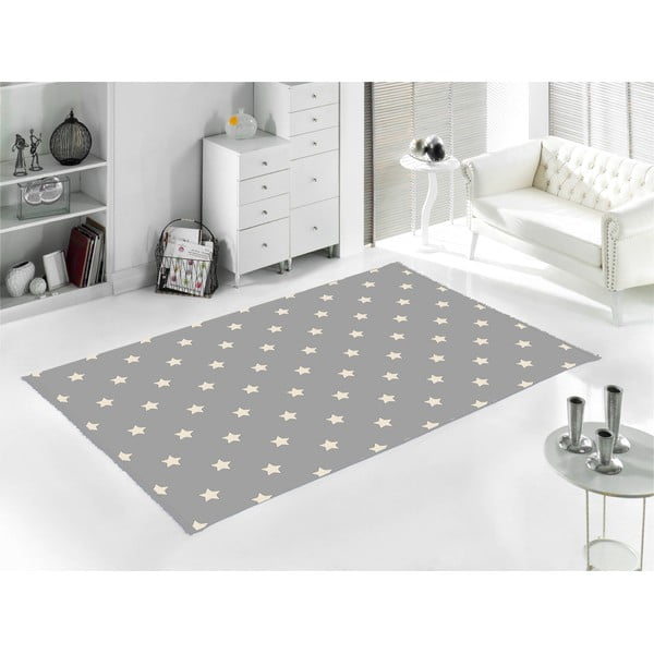 Šedý koberec Home De Bleu Star, 80x150cm