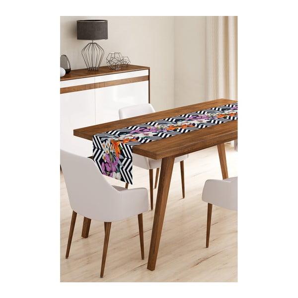 Flower Stripes mikroszálas asztali futó, 45 x 145 cm - Minimalist Cushion Covers