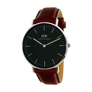 Unisex hodinky s hnědým páskem Daniel Wellington Bristol Silver, ⌀40mm