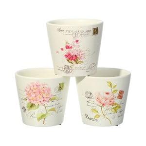 Sada 3 květináčů Ixia Peony