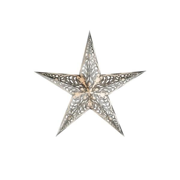 Dekorativní vánoční hvězda Geeta Silver
