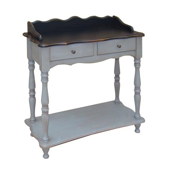Odkládací stolek se zásuvkami Transilvania Belgique Grey