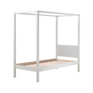 Bílá dětská postel Vipack Pino Canopy, 90x200cm