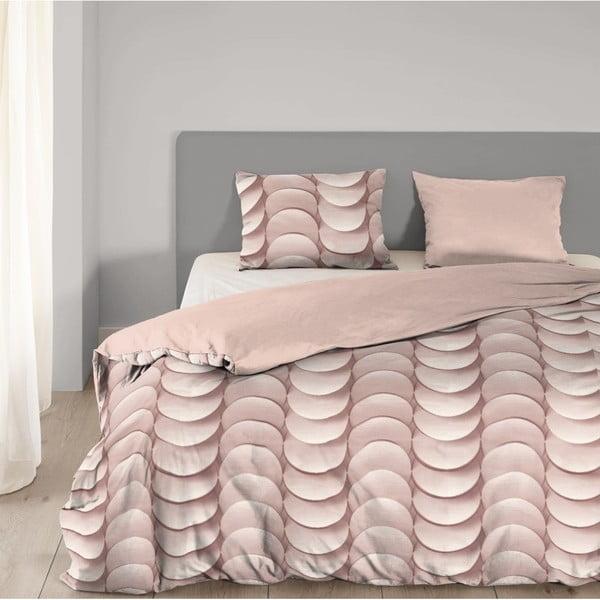 Lenjerie de pat din bumbac Good Morning Emerged,140x200cm, roz