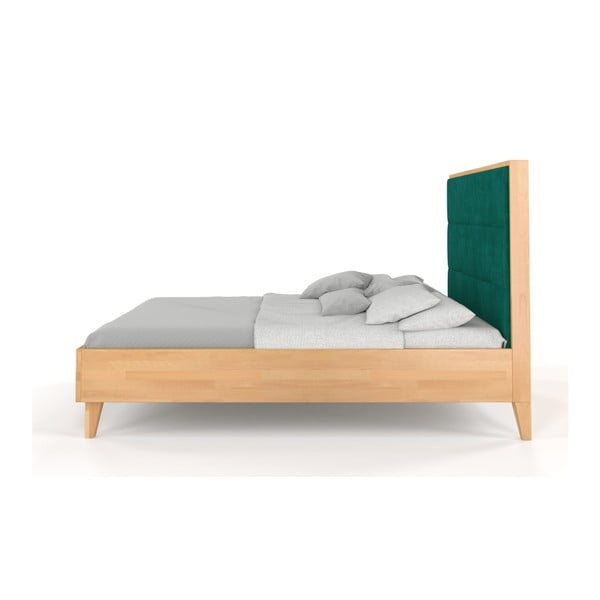 Dvoulůžková postel z masivního bukového dřeva SKANDICA Frida, 200 x 200 cm