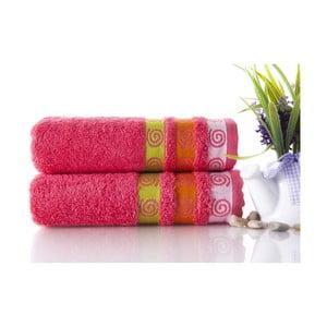 Set dvou ručníků Truva Fuchsia, 50x90 cm