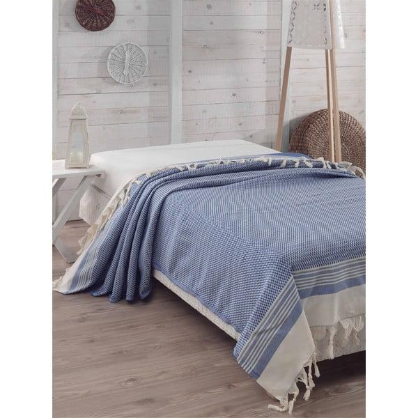 Přehoz přes postel Hasir Blue, 200x240 cm