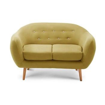 Canapea pentru 2 persoane Scandi by Stella Cadente Maison Constellation gri - galben
