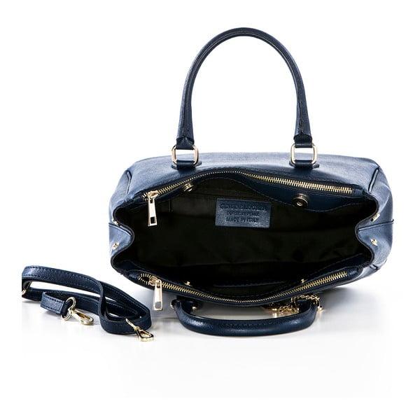 Kožená kabelka Saffi Navy