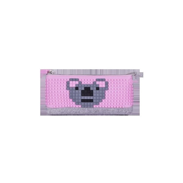 Pixelový penál, grey/pink