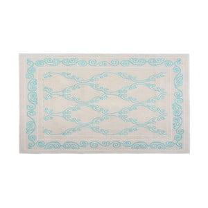 Bavlněný koberec Oluchi 60x90 cm, tyrkysový