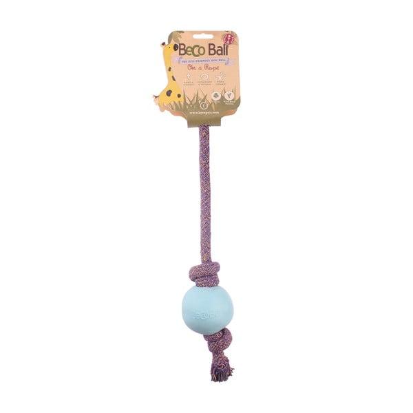 Provaz s míčkem na hraní Beco Rope 45 cm, modrý