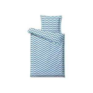 Povlečení Zigzag Blue, na jednolůžko (140x220 cm)