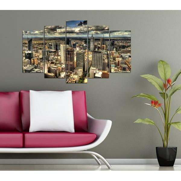 5dílný obraz Pohled na město