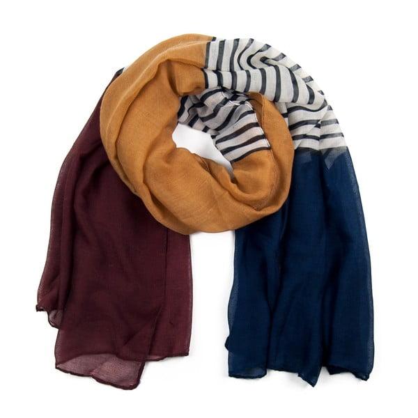 Šátek Colour Brown/Blue