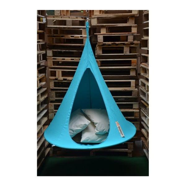 Světle modré závěsné křeslo pro děti Cacoon Bonsai