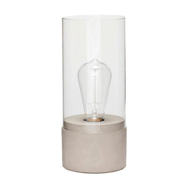 Lampa stołowa z betonową podstawą Hübsch Fritiof