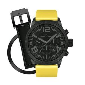 Unisex hodinky Marc Coblen s páskem a kroužkem navíc P63