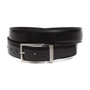Černý pánský kožený pásek GF Ferre Robin, délka 135 cm