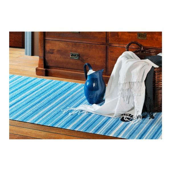 Modro-bílý koberec vhodný do exteriéru Narma Hullo, 70x100cm