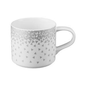 Bílý hrnek s motivem ve stříbrné barvě z porcelánu Price & Kensington Confetti,410ml
