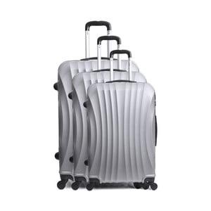 Sada 3 šedých cestovních kufrů na kolečkách Hero Bobby