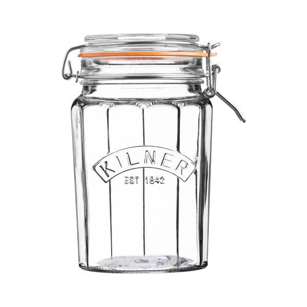 Borcan din sticlă cu clips Kilner, 0,95 L