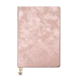 Růžový zápisník A5 GO Stationery All That Glitters Blush