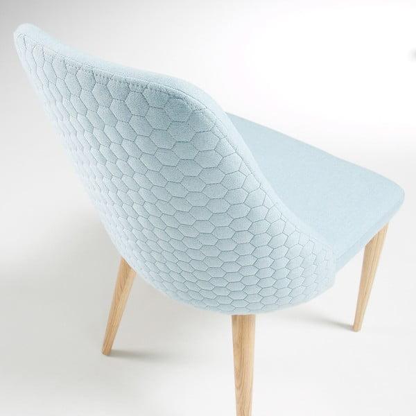 Set 2 scaune cu picioare de lemn La Forma Roxie, albastru deschis