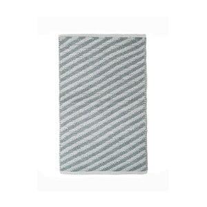 Šedý bavlněný ručně tkaný koberec Pipsa Diagonal, 60x90 cm
