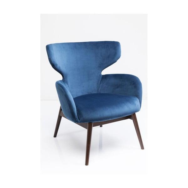 Aroha Velvet kék füles fotel - Kare Design