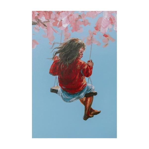 Tablou Kare Design Flower Girl, 160 x 120 cm