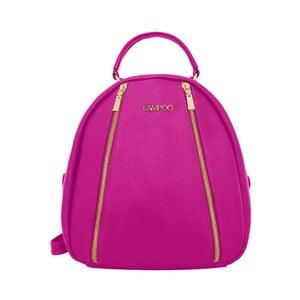 Fuchsiový kožený batoh Lampoo Kurro