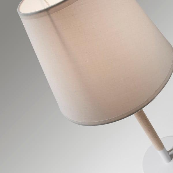 Bílá stolní lampa La Forma Moskov