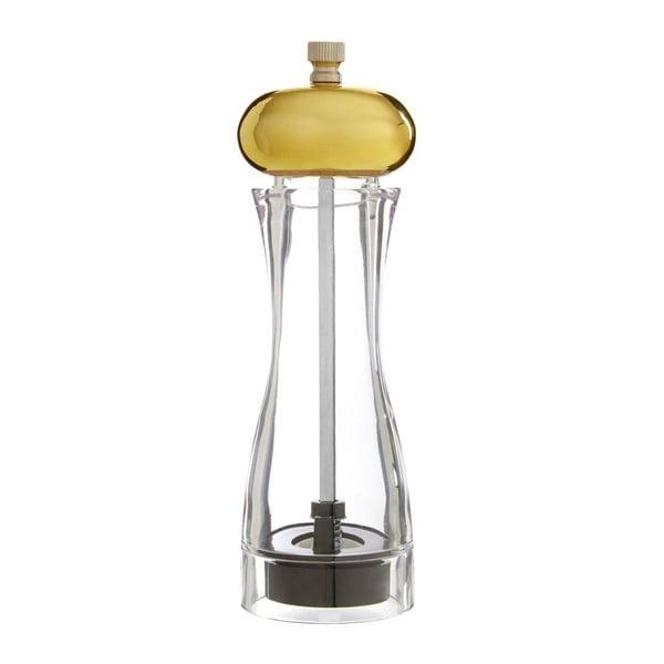 Malý mlýnek na sůl či pepř s detailem zlaté barvy Premier Housewares Mill