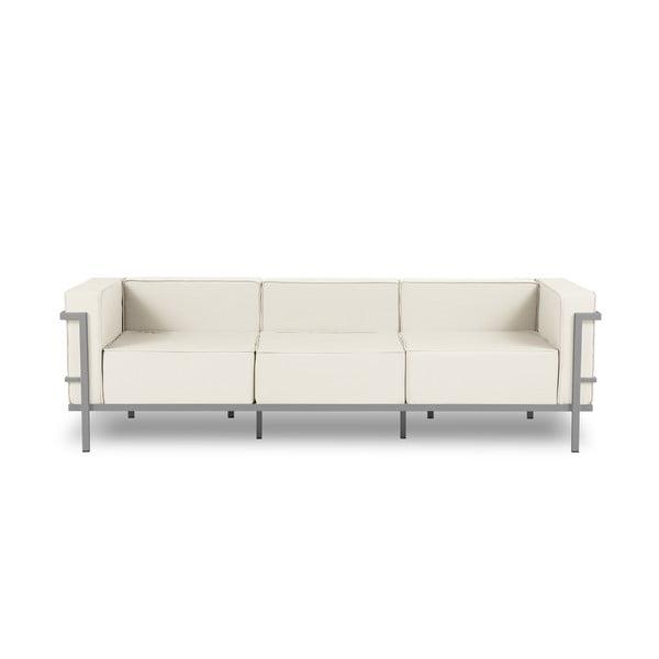 Canapea cu 3 locuri adecvată pentru exterior Calme Jardin Cannes, bej - gri