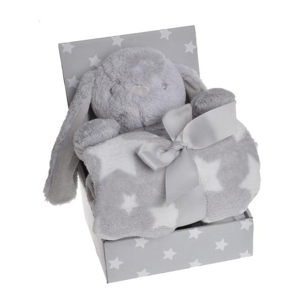 Sada plyšového zajíčka a deky Grey