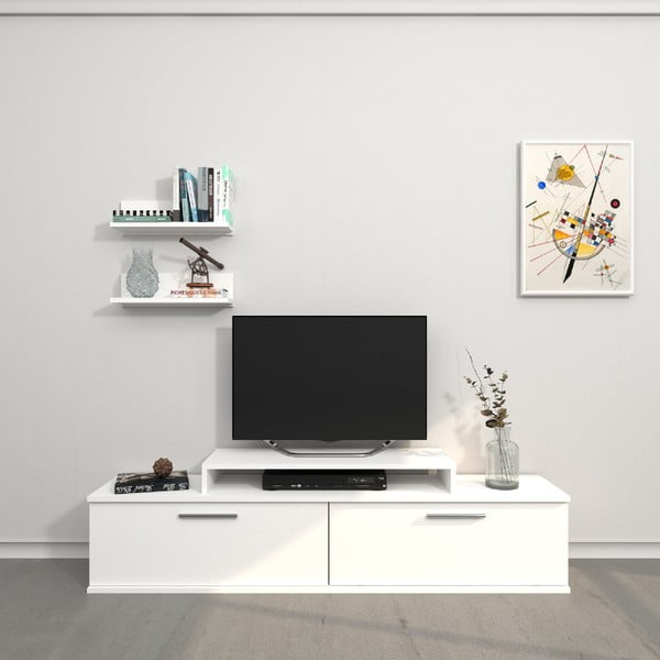 Bílý TV stolek Orione