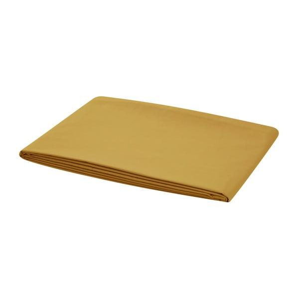 Hořčicově žluté elastické prostěradlo na jednolůžko Bella Maison Basic, 100x200cm