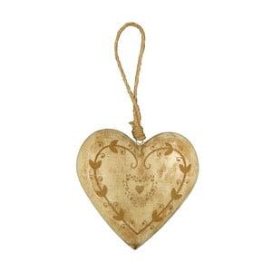 Závěsná dekorace ve tvaru srdce Antic Line Light