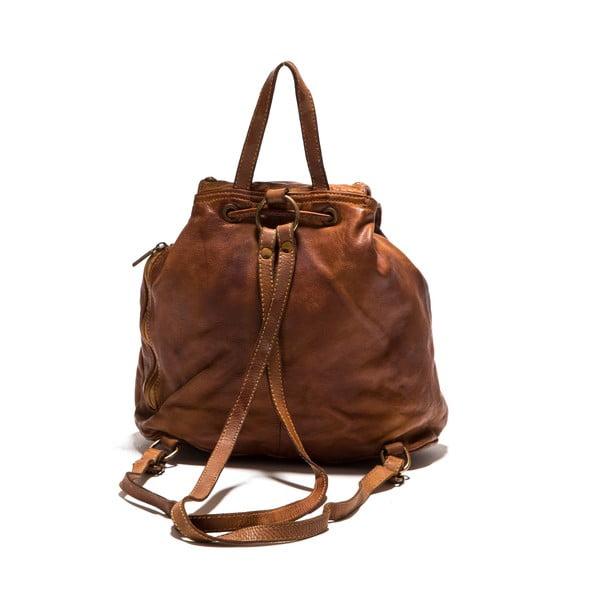 Kožený batoh Anna Luchini 8 Cognac