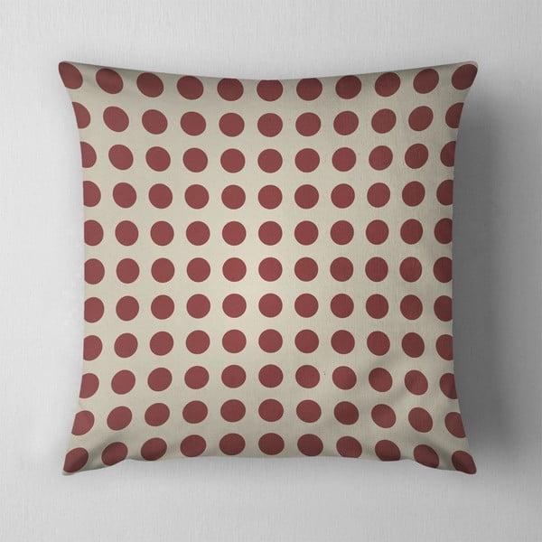 Polštář Small Red Dots, 43x43 cm