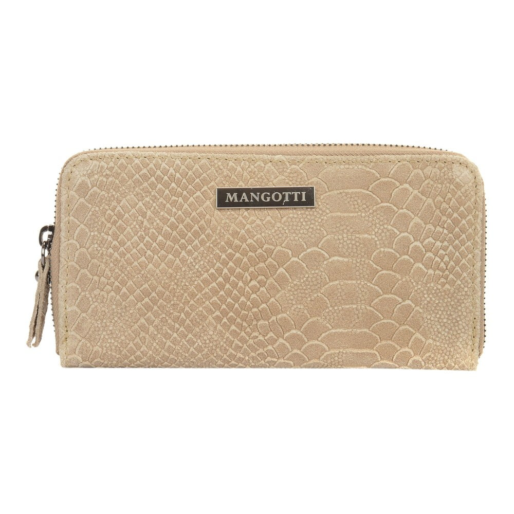 Béžová kožená peněženka Mangotti Bags Zuna