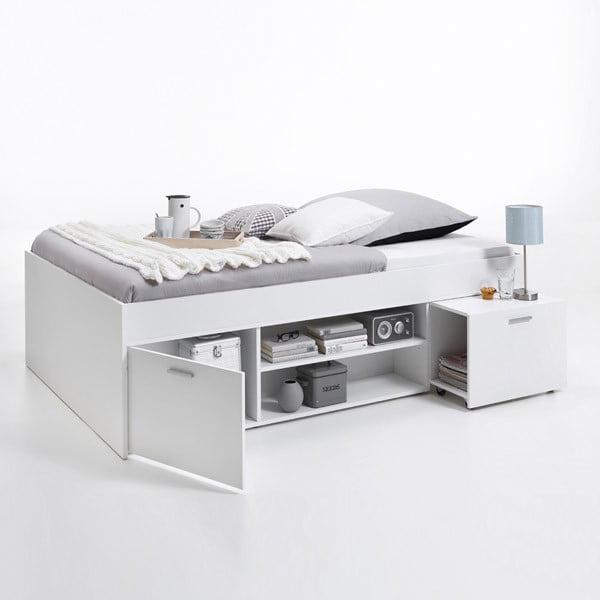Bílá jednolůžková postel 13Casa Carlo, 90x200cm